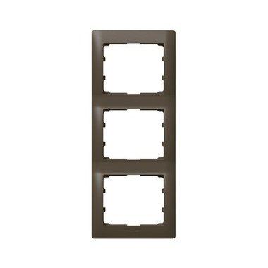 Legrand 771207 Рамка вертикальная 3 поста темная бронза