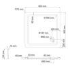 Душевой поддон квадрат WasserKRAFT Amper 29T03 18816