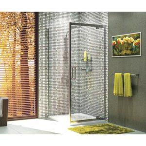 Душевой уголок квадрат с универсальной распашной дверью WasserKRAFT Berkel 48P02