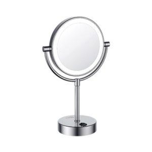 Зеркало с LED-подсветкой двухстороннее стандартное и с 3-х кратным увеличением WasserKRAFT K-1005