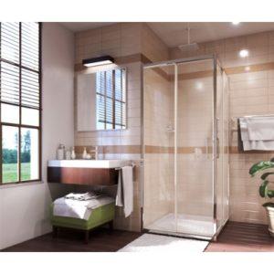 Душевой уголок квадрат с раздвижными дверьми WasserKRAFT Main 41S03