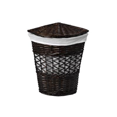 Плетеная корзина для белья с крышкой WasserKRAFT Salm WB-270-M