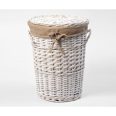 Плетеная корзина для белья с крышкой WasserKRAFT Aller WB-106-L