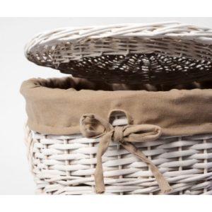 Плетеная корзина для белья с крышкой WasserKRAFT Aller WB-106-S