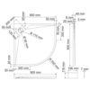 Душевой поддон сектор WasserKRAFT Alme 15T01 18810