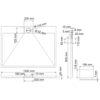 Душевой поддон прямоугольник WasserKRAFT Alme 15T07 18804