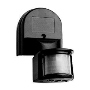 Датчик движения ДД 008 черный, максимальная нагрузка 1100Вт, угол обзора 180градусов, дальность 12м, IP44, ИЭК
