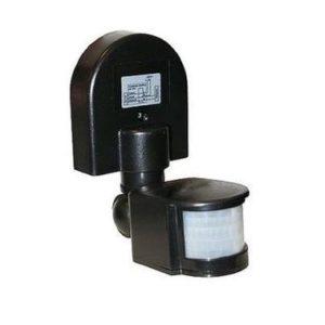 Датчик движения инфракрасный ДД-008-B 1200Вт 180 градусов 12м IP44 черный ASD