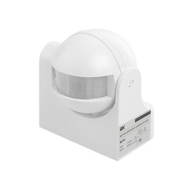 Датчик движения ИЭК ДД 009 (1100 вт., 180 гр., 12 м., белый, IP 44)