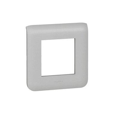 Legrand 079302 Рамка Программа Mosaic пластмассовая 2 модуля алюминий