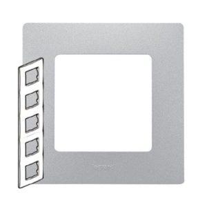 Legrand 672555 Рамка 5 постов алюминий