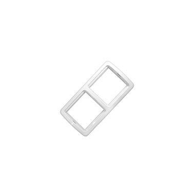 Рамка 2-х местная вертикальная UNIVersal Валери, цвет белый