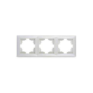 Рамка 3-ая VALENZO белая ASD (6303H)