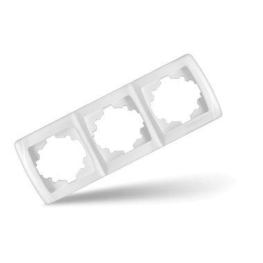 Рамка 3-х местная горизонтальная UNIVersal Маргарита, цвет белый