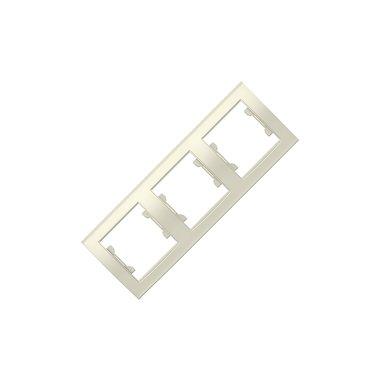 Рамка 3-х местная вертикальная UNIVersal Бриллиант, цвет слоновая кость