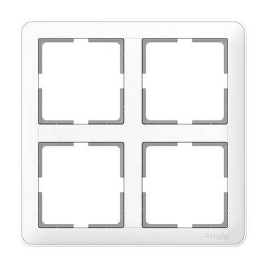 Рамка четырехместная (2X2) Schneider Electric W59, цвет белый