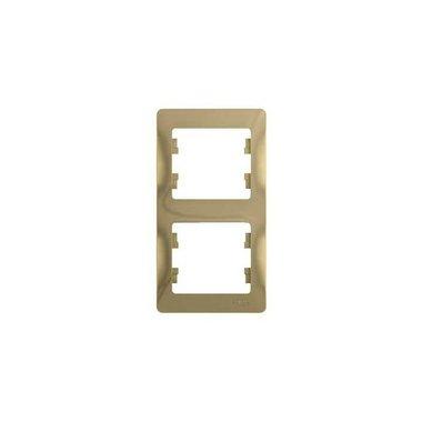 Рамка двухместная вертикальная Schneider Electric GLOSSA, цвет титан