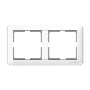 Рамка двухместная Schneider Electric W59, цвет белый