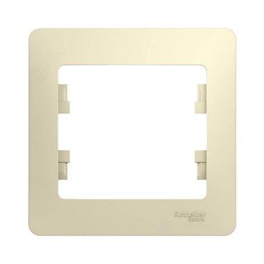 Рамка одноместная Schneider Electric GLOSSA, цвет бежевый