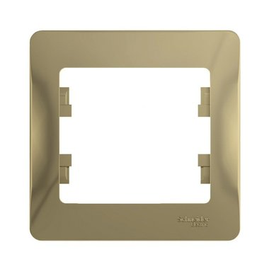 Рамка одноместная Schneider Electric GLOSSA, цвет титан