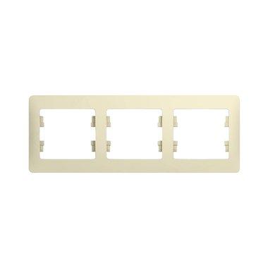 Рамка трехместная горизонтальная Schneider Electric GLOSSA, цвет бежевый
