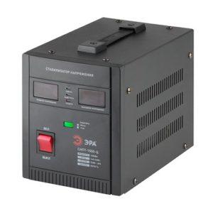 СНПТ-1500-Ц ЭРА Стабилизатор напряжения переносной, ц.д., 140-260В/220/В, 1500ВА (4)