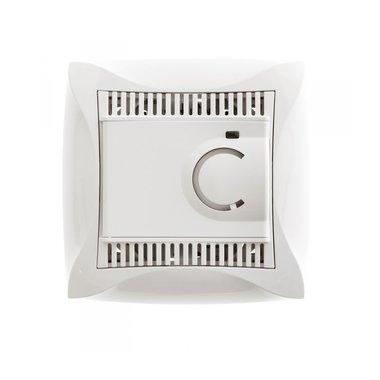 Термостат теплого пола с датчиком электронный Schneider ДУЭТ в сборе, цвет белый