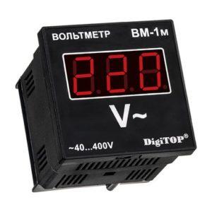 ВМ-1м, цифровой вольтметр DigiTop, 40 - 400V AC, щитовое исполнение
