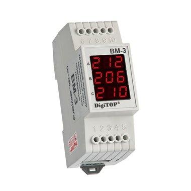 ВМ-3, трехфазный цифровой вольтметр DigiTop, 40 - 400V AC