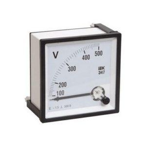 Вольтметр Э47 500В класс точности 1,5 72х72мм ИЭК