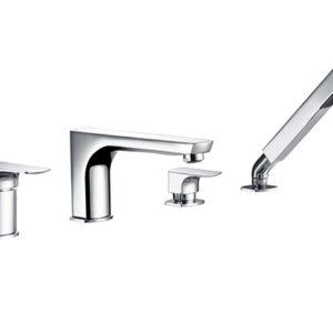 Смеситель на борт ванны на 4 отверстия WasserKRAFT Salm 2755