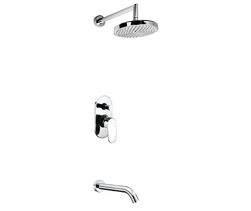 Встраиваемый комплект для ванны с изливом и верхней душевой насадкой WasserKRAFT А13020