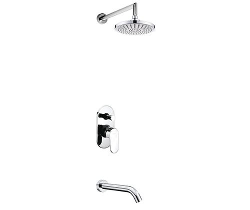 Встраиваемый комплект для ванны с изливом и верхней душевой насадкой WasserKRAFT А13029