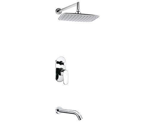 Встраиваемый комплект для ванны с изливом и верхней душевой насадкой WasserKRAFT А13031