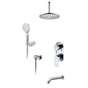 Встраиваемый комплект для ванны с верхней душевой насадкой, лейкой и изливом WasserKRAFT А175868