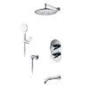 Встраиваемый комплект для ванны с верхней душевой насадкой, лейкой и изливом WasserKRAFT А174819 Thermo 24664
