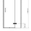 Душевая дверь WasserKRAFT Aller 10H05RBLACK MATT 24824
