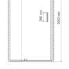 Душевая дверь WasserKRAFT Berkel 48P13 24856