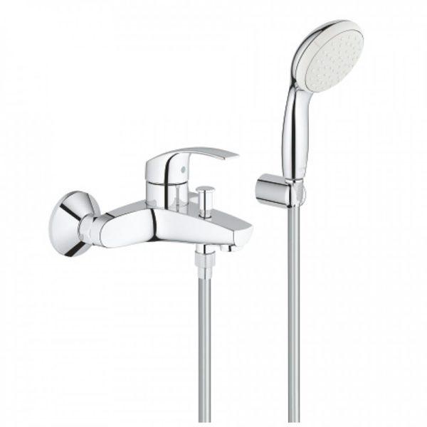 Смеситель для ванны GROHE Eurosmart New с душевым набором 3330220A