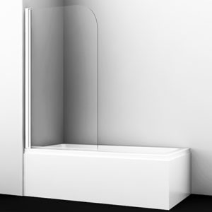 Стеклянная шторка для душа, распашная, одностворчатая WasserKRAFT Leine 35P01-80WHITE