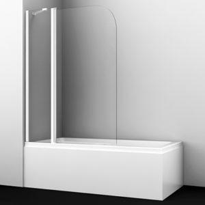 Стеклянная шторка для душа, распашная, одностворчатая WasserKRAFT Leine 35P02-110WHITE Fixed