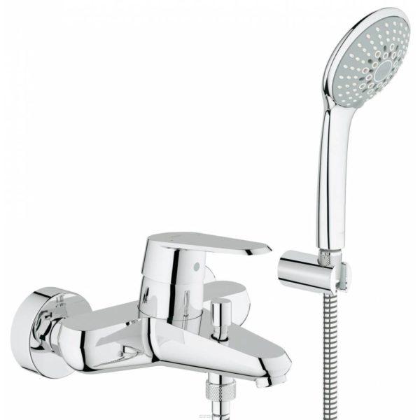 Смеситель для ванны GROHE Eurodisc Cosmopolitan с душевым гарнитуром 33395002