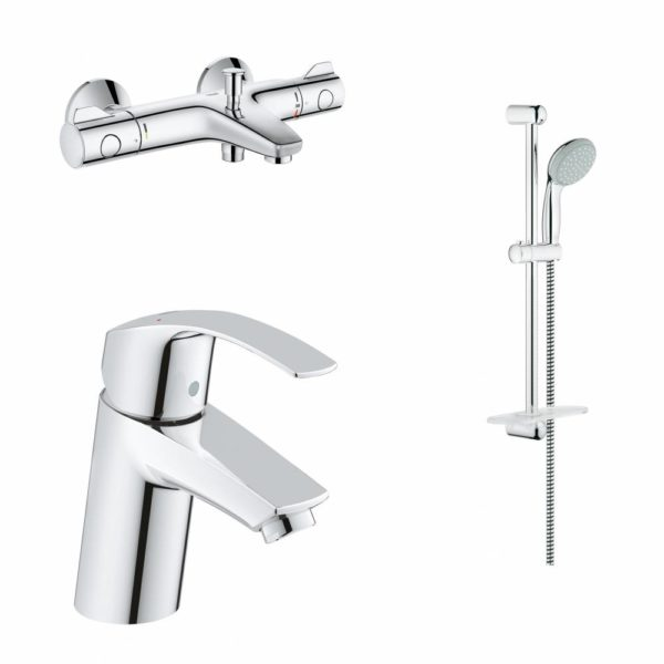 Комплект смесителей для ванны GROHE смеситель для раковины термостат для ванны душевой гарнитур 124422