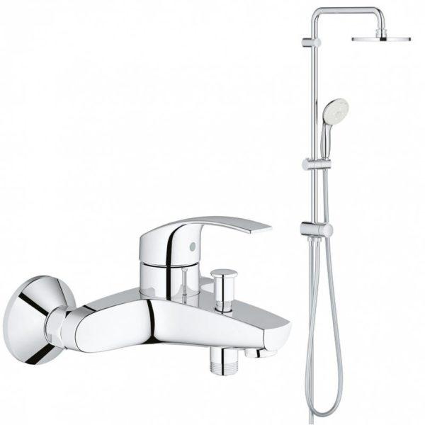 Душевая система для ванны GROHE New Tempesta 200 со смесителем NB0045