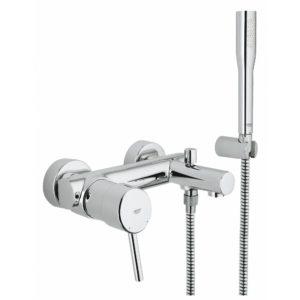 Смеситель для ванны GROHE Concetto с душевым гарнитуром хром 32212001